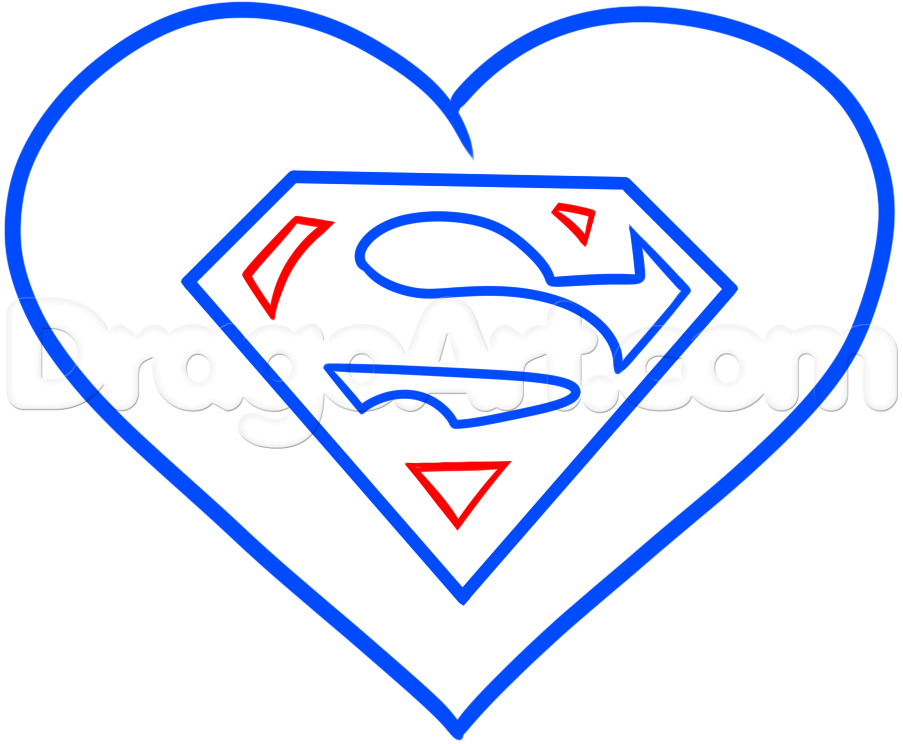 Drawn hearts diamond Heart to 6 Step Superman