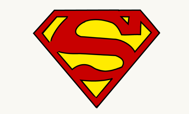 Drawn symbol superman Draw Draw Step Image Easy