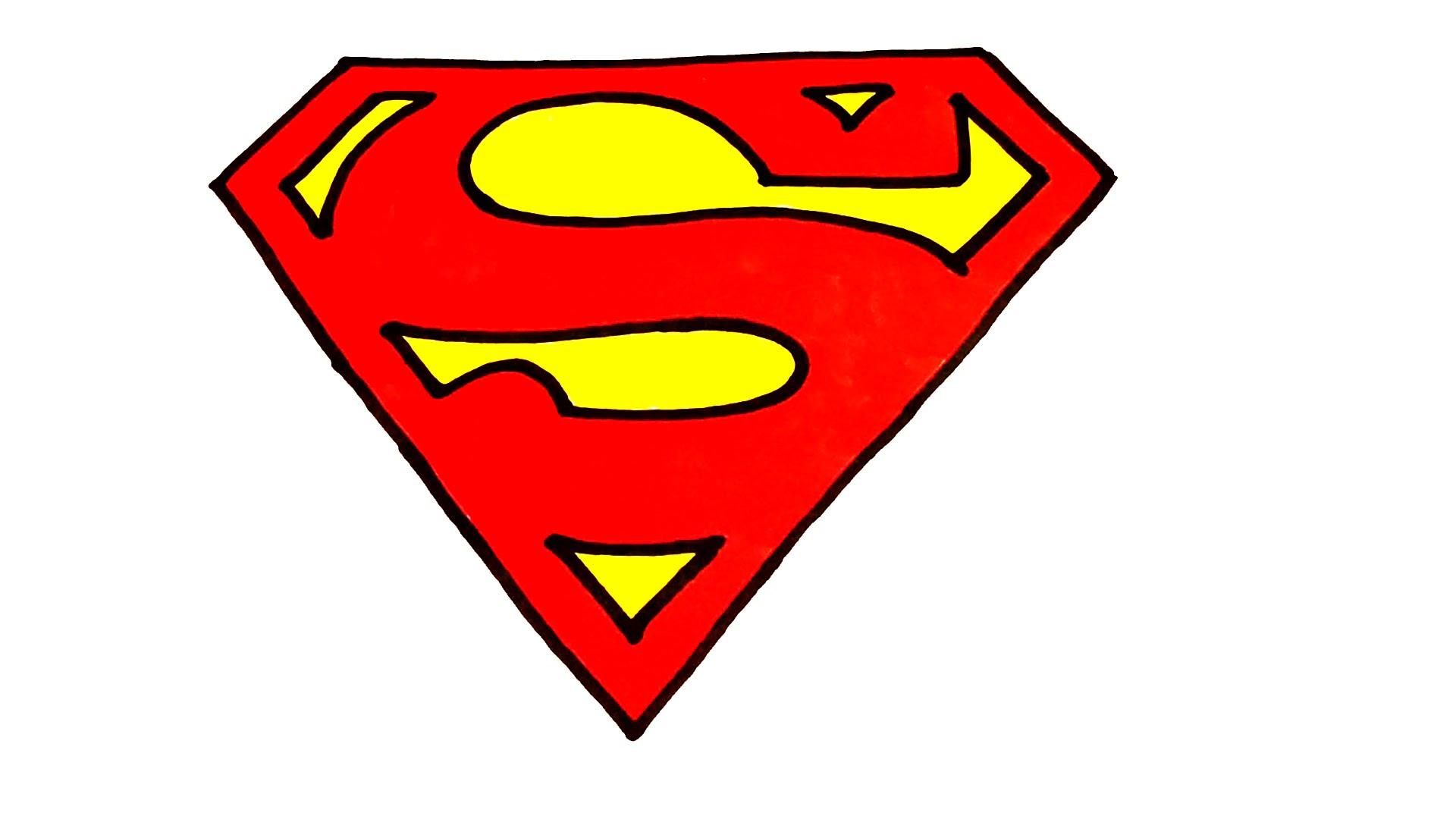 Drawn symbol superman Draw for for  Superman