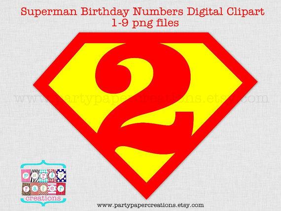 Superman clipart happy birthday Numbers Birthday Super Cartoon Clipart