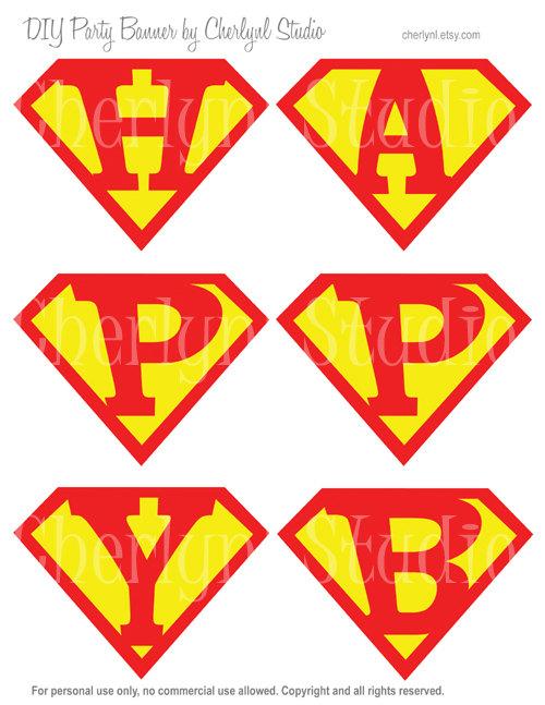 Superman clipart happy birthday Diy BIRTHDAY HAPPY Digital PDF