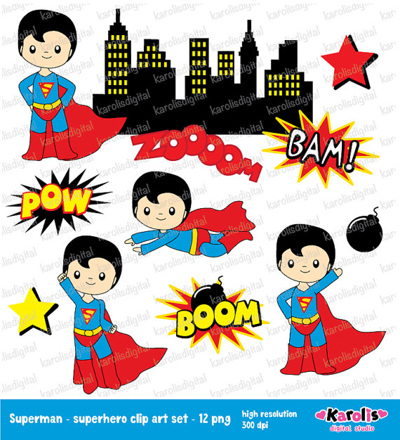 Superman clipart hero The clipart selling through for