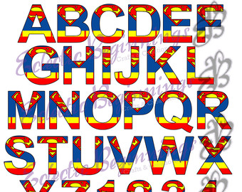 Superman clipart letter Numbers Art and Superhero Letters