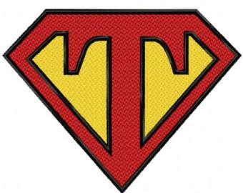 Superman clipart letter T DESIGN Letter Superman Etsy