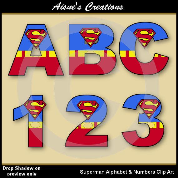 Superman clipart letter Letters Letters Alphabet & AisnesCreations