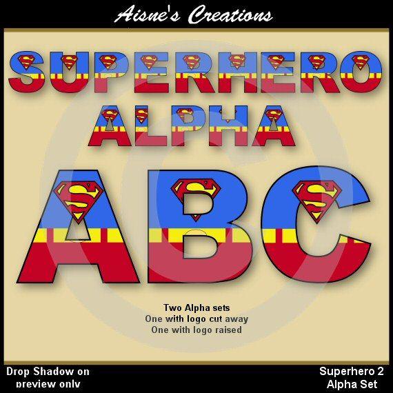 Superman clipart letter Clip 25+ alphabet Superman on