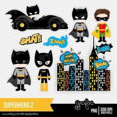 Superman clipart little superhero Superhero clipart Clipart Digital SUPERHERO