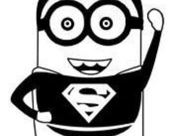 Superman clipart minion Despicable Me Decal/ Superman Superman