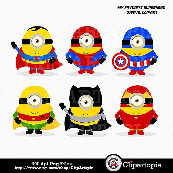 Superman clipart minion Superheroes 130 For Commercial about