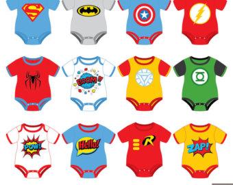 Superman clipart onesie Baby Baby Superhero Etsy Tees