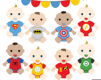Superman clipart onesie Boys Clipart Baby Clipart SuperBaby