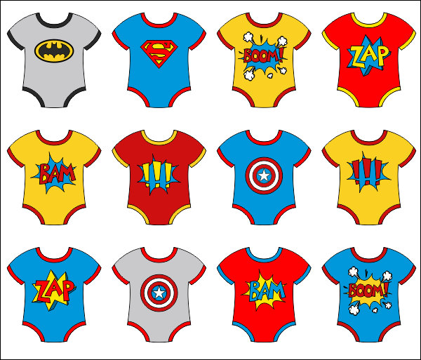 Superman clipart onesie Collection Superhero Baby Art clipart