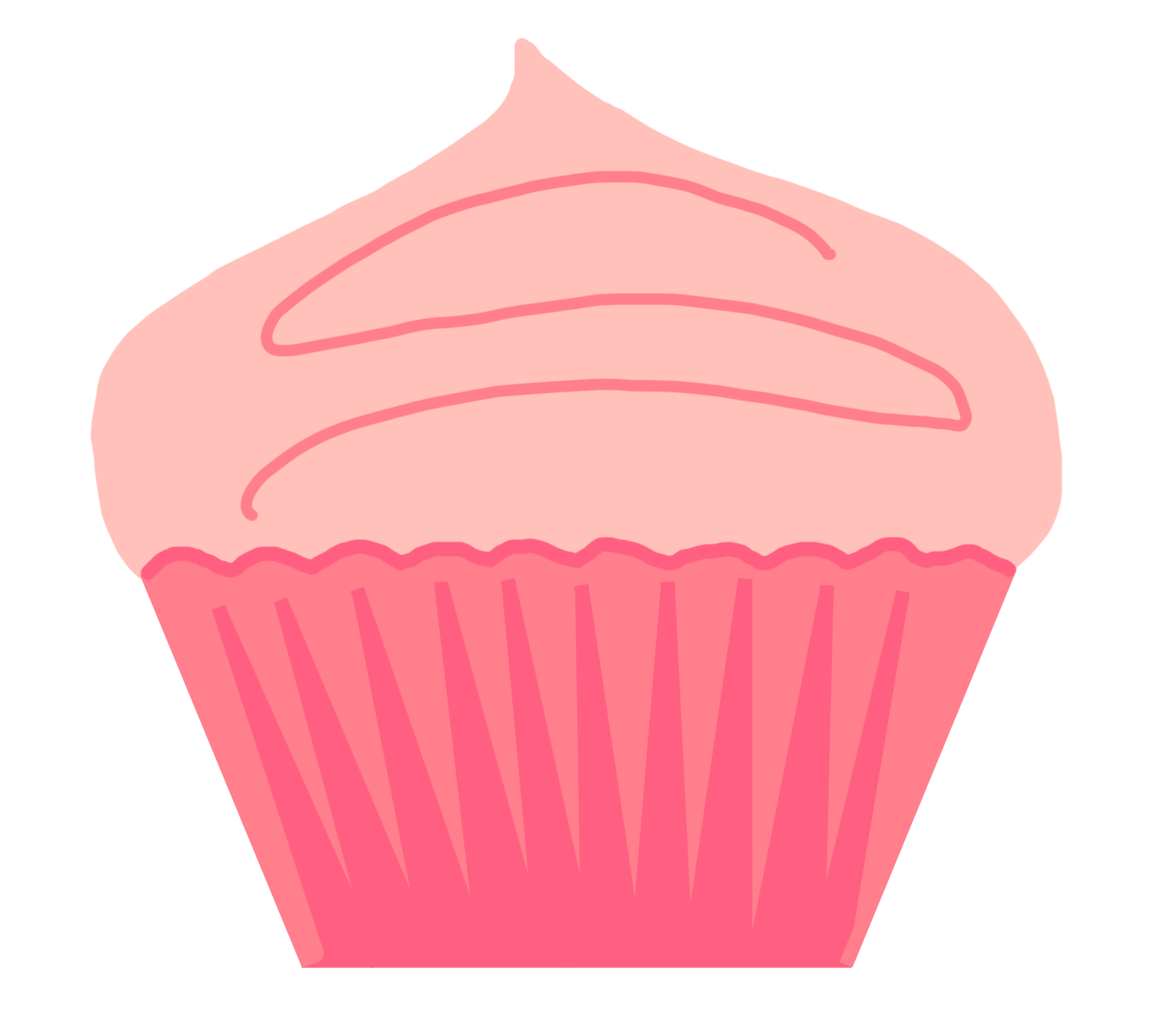 Pice clipart pink cupcake #7