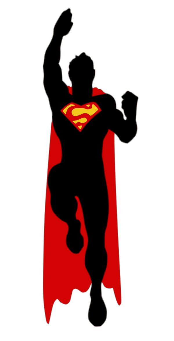 Superman clipart silhouette On viscid2007 Superman by viscid2007