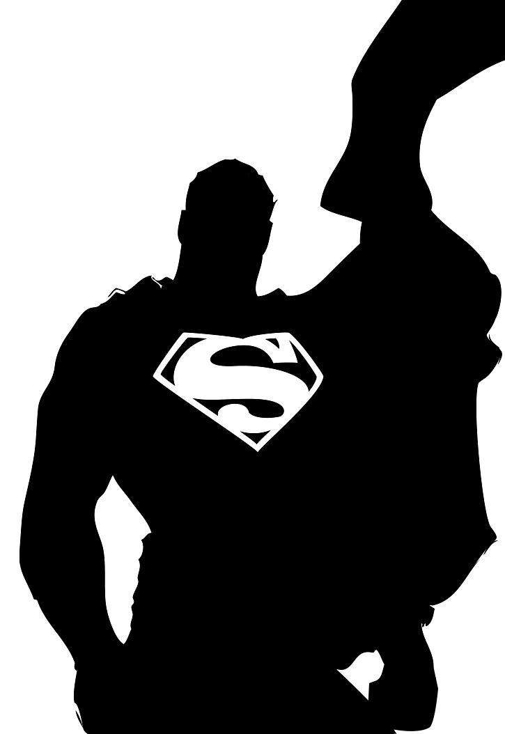 Superman clipart silhouette On dbeadle Superman by dbeadle