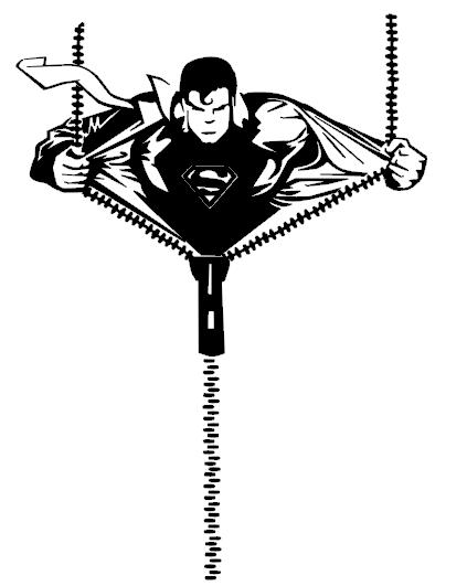 Superman clipart silhouette Superboy FILES superboy silhouette portrait