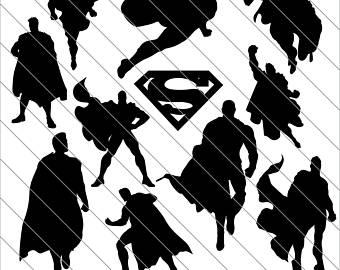 Superman clipart silhouette File Use Superman Superman svg