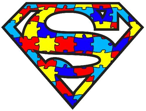 Superman clipart supe power Free on Autism superman Clip