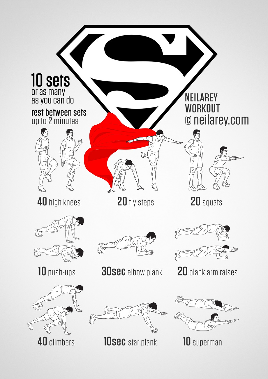 Superman clipart superhero body Supermanworkout Superhero 18 Like HuffPost