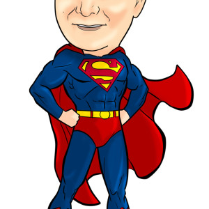Superman clipart superhero body Wedding bubblehead a Mel Leave