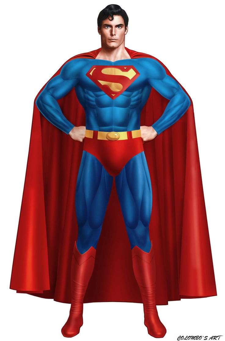 Superman clipart superhero body Pose Superman Zone Superman Cliparts