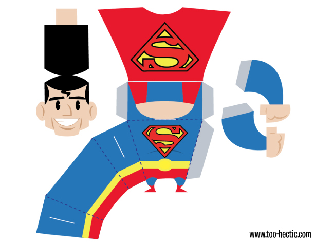 Superman clipart toy Preview Zachary Toy Superman template