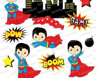 Superman clipart vintage Superman clip use Pinterest superheroes