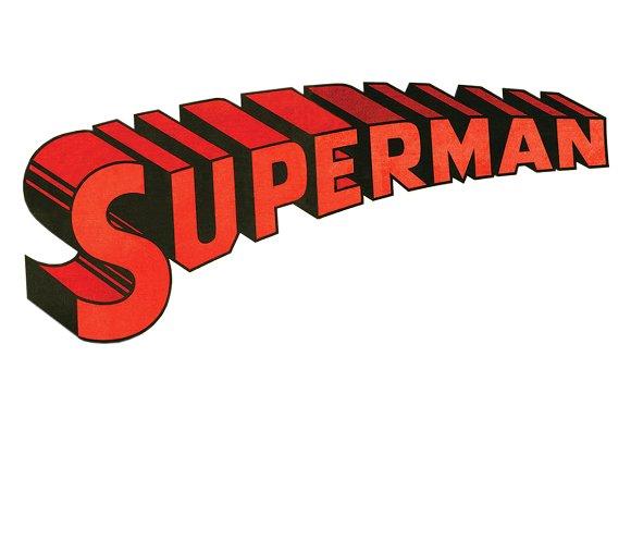 Superman clipart vintage Superman Logo (Vintage 3D Illustrations