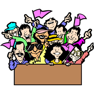 Supporters clipart politician speech Clip Fans Clipart Cheering Fans