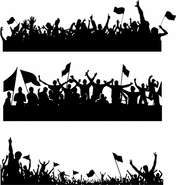 Supporters clipart politician speech Silhouettes free 208 silhouette Supporters