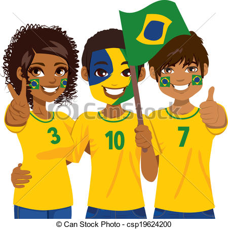 Supporters clipart sports competition Soccer of Fans Brazilian Young
