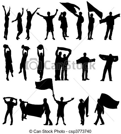 Supporters clipart politician speech Silhouettes clip art sport Supporter