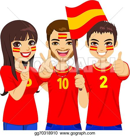 Supporters clipart champion team Illustration team  soccer fans