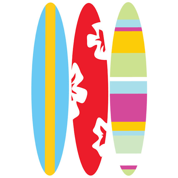 Red clipart surfboard #1