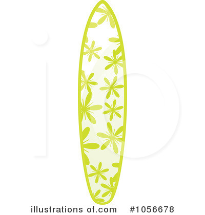 Surfboard clipart floral #3