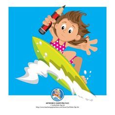 Surfboard clipart kid #13