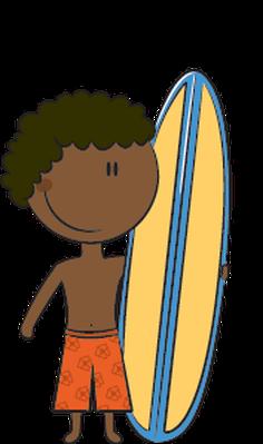 Surfboard clipart kid #6