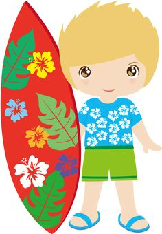 Surfboard clipart kid #8
