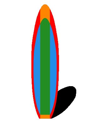 Surfboard clipart kid #12