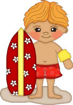 Surfboard clipart kid #9