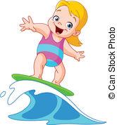 Surfboard clipart kid #10