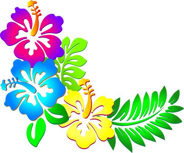 Blue Flower clipart lei flower Clip hibiscus Clip art images