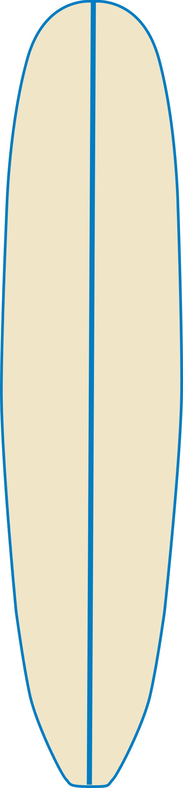 Surfboard clipart outline #7