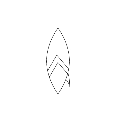 Surfboard clipart outline #13
