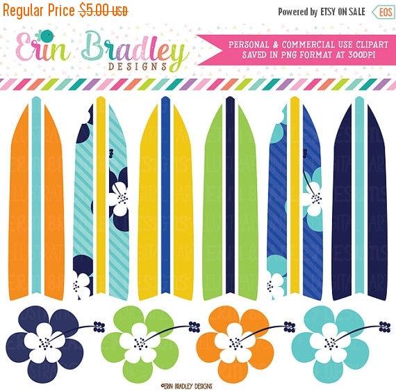 Surfboard clipart summer beach Boys Boys Art from SALE