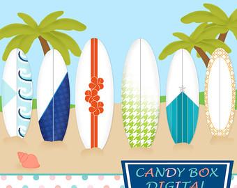 Surfboard clipart summer beach Beach Summer Summer Vacation Clipart