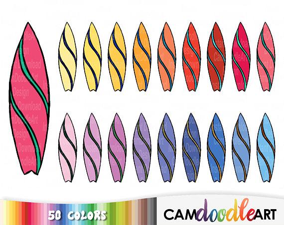 Surfboard clipart summer beach Summer Clipart Drawn from Surfboards