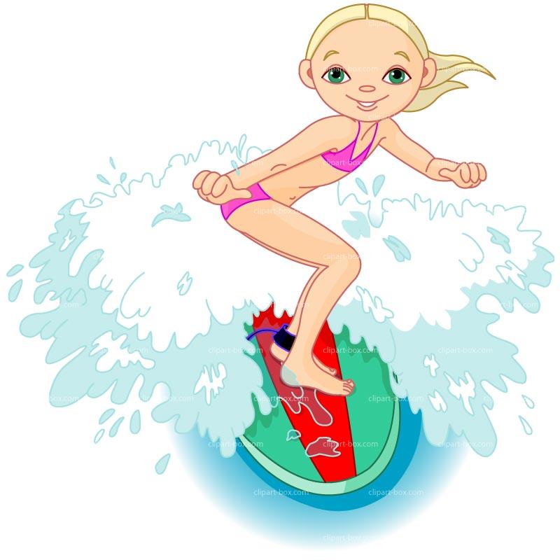 Surfboard clipart kid #5