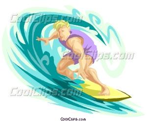 Surfer clipart cool dude Vector surfer surfer dude Clip