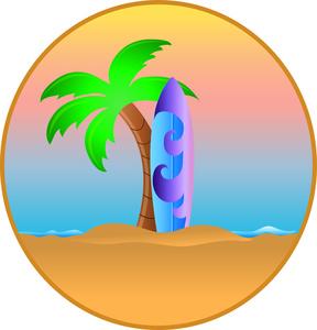 Sea clipart hawaiian beach #10
